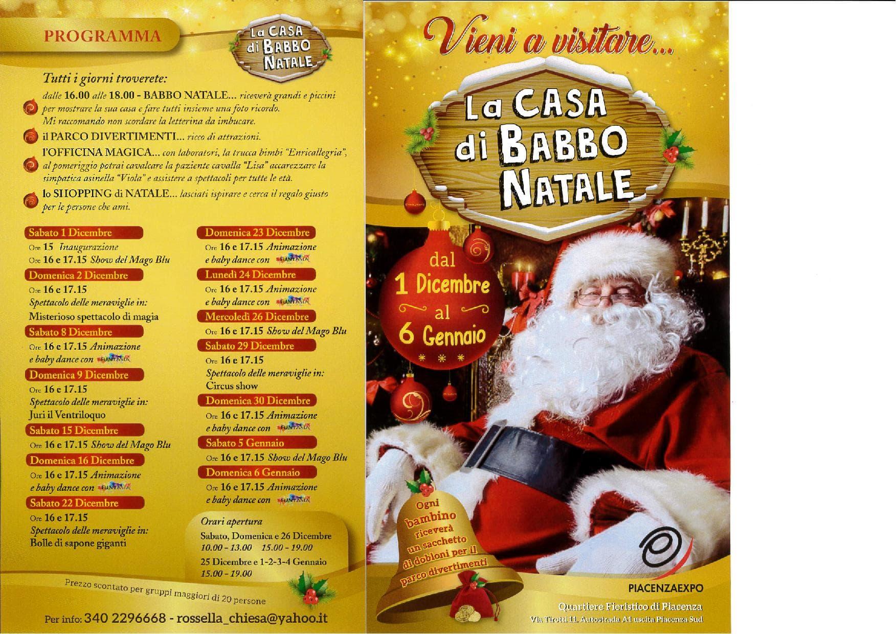 La Casa Di Babbo Natale Prezzi.A Piacenza Expo La Casa Di Babbo Natale