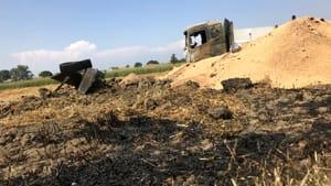 carcassa camion fiamme incendio rottofreno 2019-3