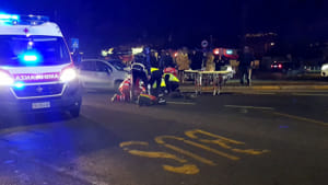 incidente strada 118 sanitari ambulanza croce rossa notte ok 2019-4