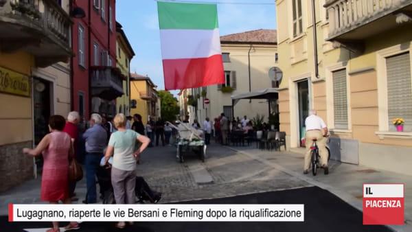 Lugagnano, i commercianti inaugurano le vie Bersani e Fleming dopo la riqualificazione