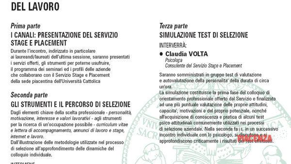 Calendario Unicatt.Universita Cattolica Piacenza Al Via I Nuovi Stage