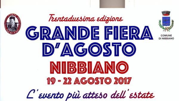 Nibbiano, Grande Fiera d'Agosto 2017