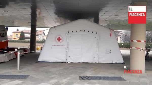 Coronavirus, presidio medico avanzato anche a Fiorenzuola