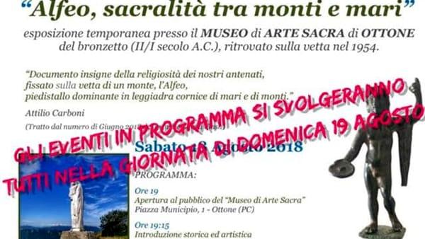 """Ottone, """"Alfeo, sacralità tra monti e mari"""""""