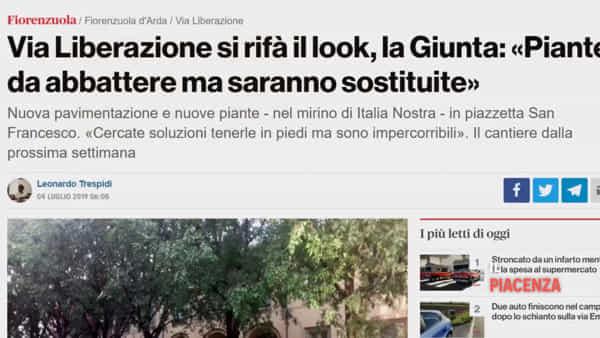 "Fiorenzuola, riaperta la ""nuova"" piazzetta San Francesco d'Assisi riqualificata"
