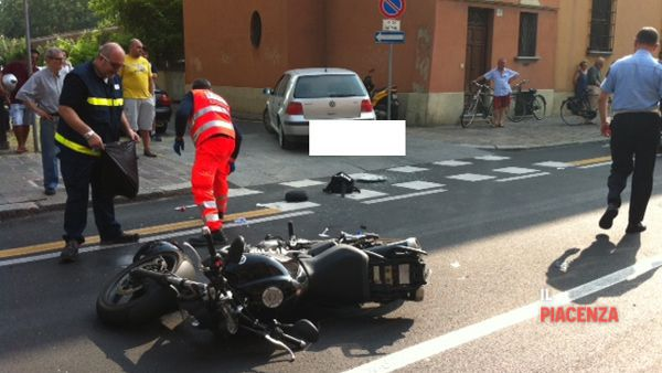 Incidente sullo Stradone: la moto
