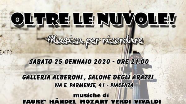 """Galleria Alberoni, Concerto """"Oltre le nuvole! Musica per ricordare"""""""