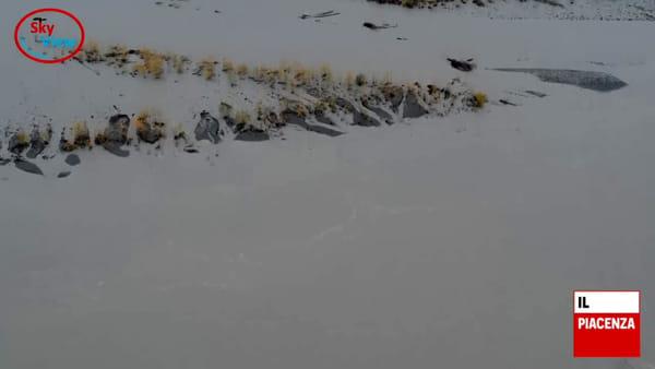 La piena del Po e dei fiumi vista dal drone
