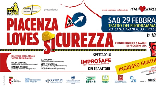 "Teatro Filodrammatici, ""Piacenza loves Sicurezza"""