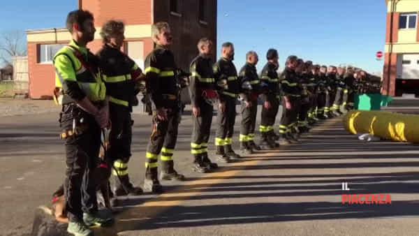 I vigili del fuoco di Piacenza ricordano il collega Stefano Colasanti e la tragedia di Ancona