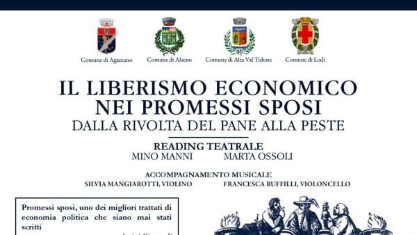 """""""Il liberismo economico nei Promessi Sposi"""", reading teatrale"""