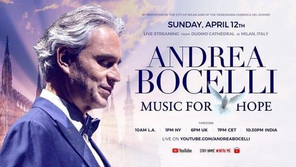 Dal Duomo di Milano, Pasqua con Andrea Bocelli