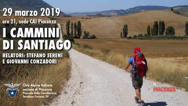 """Cai Piacenza, """"I cammini di Santiago"""""""
