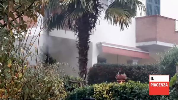Fiorenzuola, incendio in una villetta