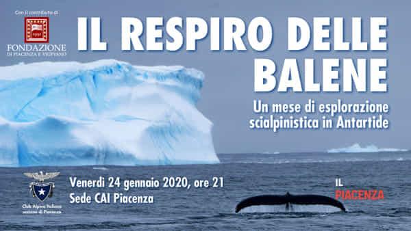 """CAI Piacenza, """"Il respiro delle balene"""""""
