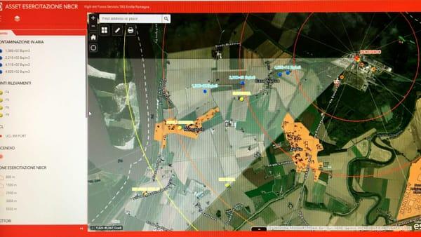 Esercitazione vigili del fuoco e protezione civile centrale nucleare caorso-2