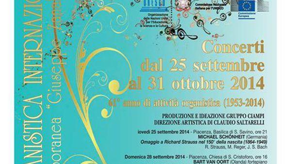 Settimana Organistica Internazionale, edizione 2014