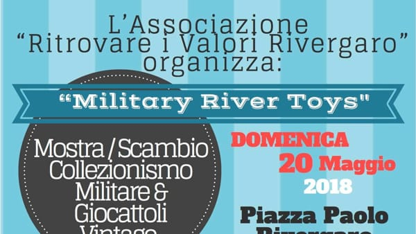 Rivergaro, Military River Toys in Piazza Paolo