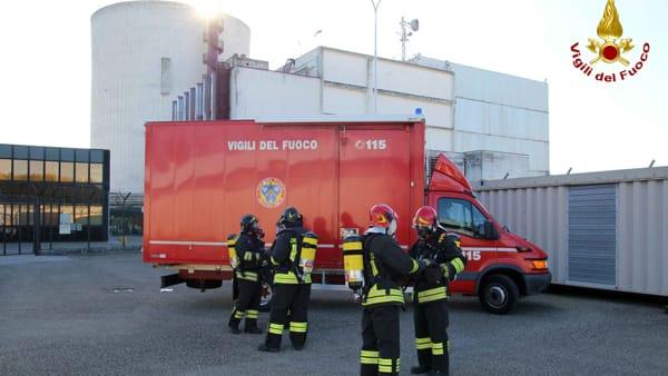 Esercitazione vigili del fuoco e protezione civile centrale nucleare caorso-3