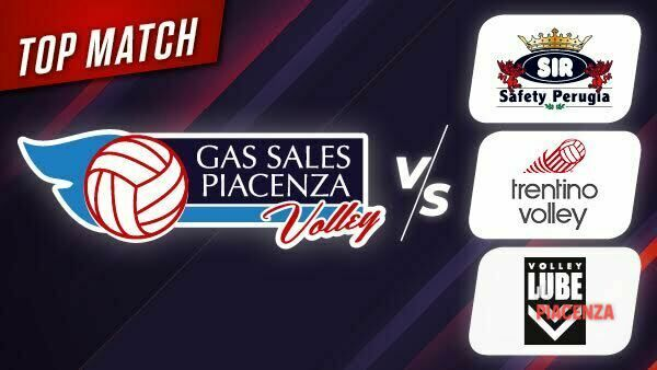 Tre top match per la Gas Sales Bluenergy Volley Piacenza