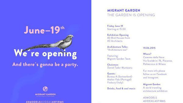 "Politecnico, progetto ""Migrant Garden - Untouchable landscapes"""