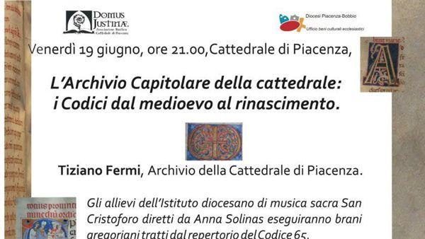 """Cattedrale di Piacenza, """"Intervento di chiusura lavori"""""""
