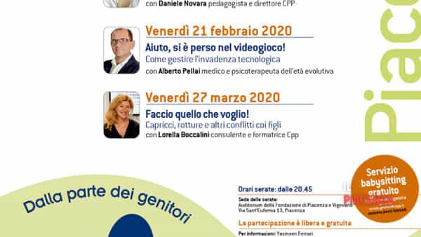 """Scuola Genitori di Piacenza 2020, """"Genitori organizzati e felici"""""""
