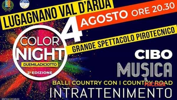 Lugagnano Val d'Arda, Color Night 2018