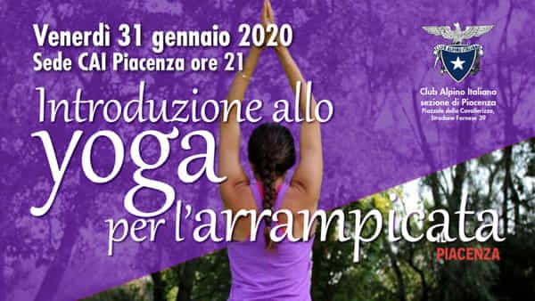 """CAI Piacenza, """"Yoga per l'arrampicata"""""""