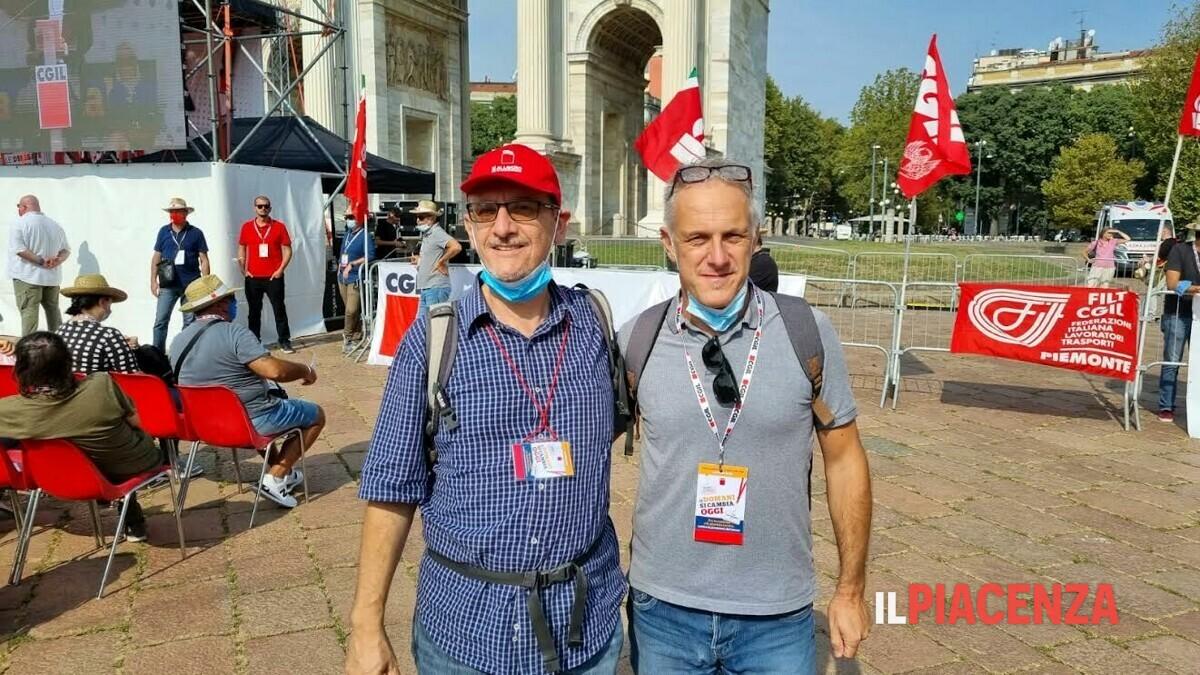 Da Piacenza a Milano per l'assemblea nazionale dei delegati Cgil