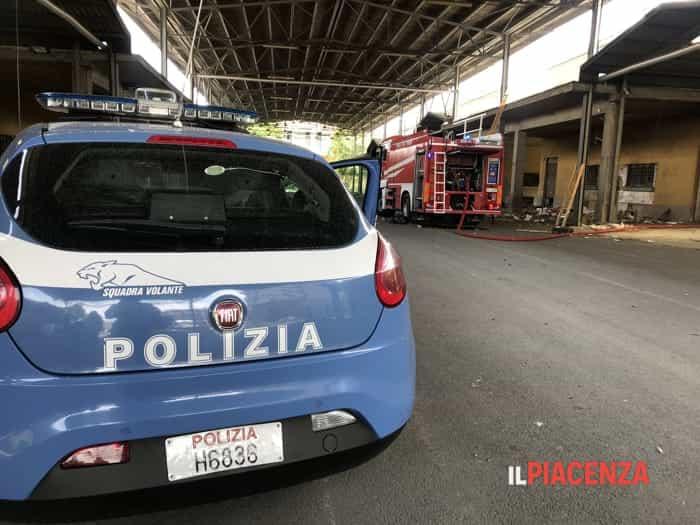 Incendi al Berzolla e all'ex mercato ortofrutticolo ©Gatti/IlPiacenza